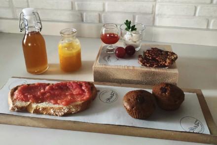 Desayuno en el taller
